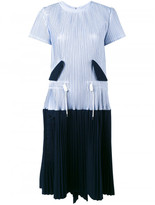 Sacai micro pleated two part dress