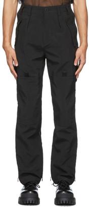 Blackmerle SSENSE Exclusive Black Zippered Vent Trousers