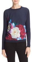 Ted Baker Women's Islii Blushing Bouquet Woven Front Sweater