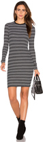 ATM Anthony Thomas Melillo Stripe Long Sleeve Dress