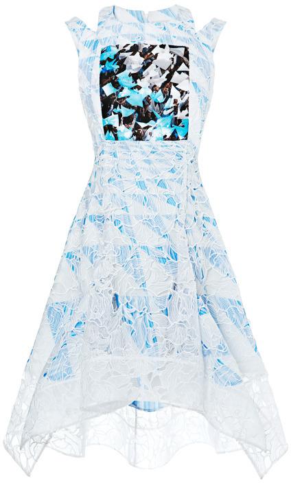 Peter Pilotto Lace Flag Dress