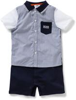 HUGO BOSS Boys Short Sleeve Romper With Collar