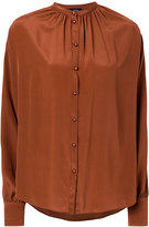 Joseph gathered button blouse