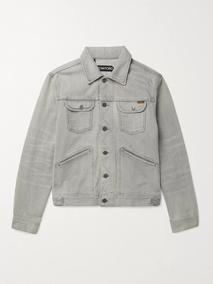 Tom Ford Denim Jacket - Men - Gray