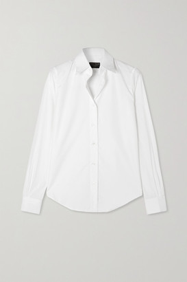 Emma Willis Net Sustain Cotton-poplin Shirt - White