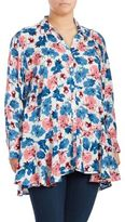 Chelsea & Theodore Floral Hi-Lo Blouse