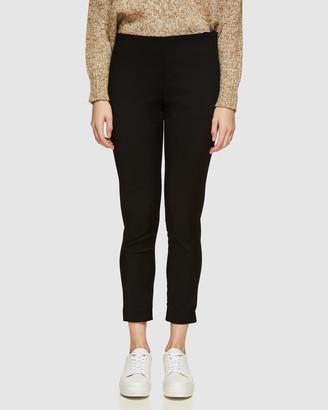 Oxford Jackie Zipper Crop Stretch Pants