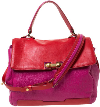 Marc Jacobs Marc By Fuchsia/Red Leather Bob's Memphis Top Handle Bag