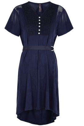 High Wavelength Navy Jersey Mini Dress