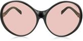 Emilio Pucci EP0030 015 Black Oversized Round Sunglasses