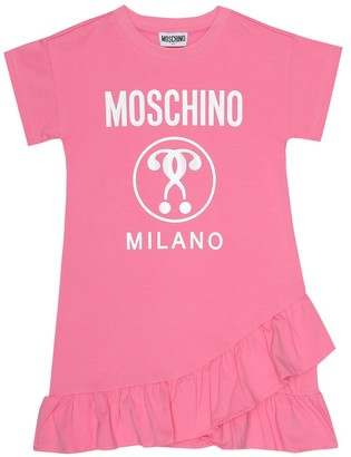 MOSCHINO BAMBINO Logo stretch-cotton dress
