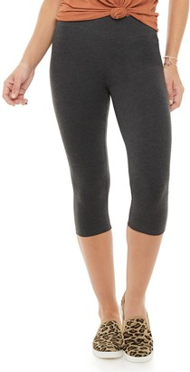 Sonoma Goods For Life Women's Wide-Waist Midrise Capri Leggings