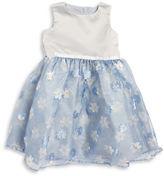 Dorissa Girls 2-6x Taffeta Embroidered Sleeveless Dress