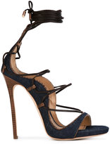 DSQUARED2 lace-up sandals - women - Leather/Polyester - 38