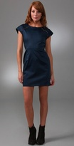 Porter Grey Shift Dress with Exposed Zippers