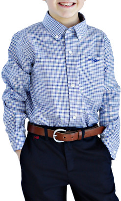 Brown Bowen And Company Plaid Shirt - Monogram Option, Size 4/5-18