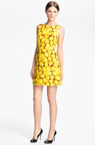 Alice + Olivia 'Candice' Print A-Line Dress