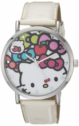 Hello Kitty Girls' Analog Quartz Watch with Plastic Strap