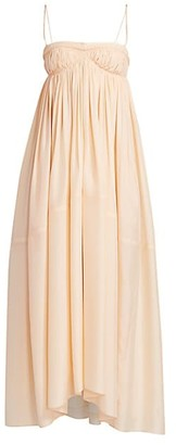 Chloé Empire Waist Silk Maxi Dress