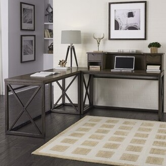 Williston Forge Witham Reversible L-Shape Executive Desk with Hutch