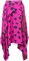 Proenza Schouler asymmetrical printed midi skirt