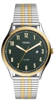 Fossil Forrester 3-Hand Stainless Steel Bracelet Watch