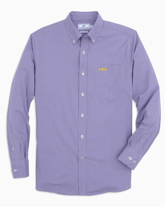 Southern Tide LSU Tigers Gingham Button Down Shirt