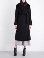 Max Mara Manuela classic wrap black coat