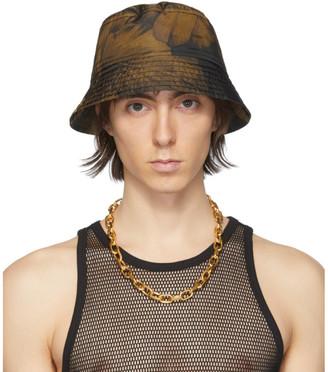 Dries Van Noten Black and Yellow Floral Bucket Hat