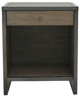 222 Fifth Mason End Table - Pebble Gray And Cocoa Bronze