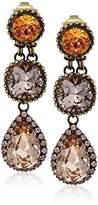 "Sorrelli Apricot Agate"" Multi Cut Crystal Drop Earrings"