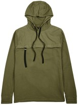 Blood Brother Region Olive Hooded Cotton Sweatshirt