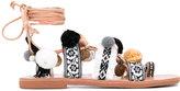 Mabu 'Freya' pompom sandal