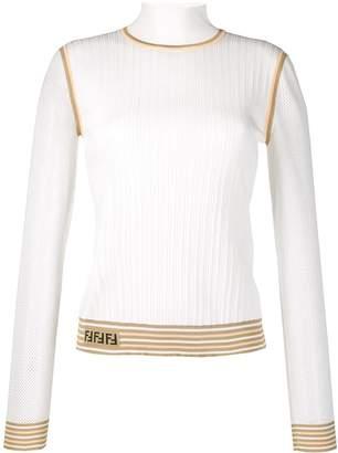 Fendi knitted logo jumper