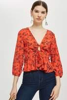 Topshop Floral print blouse