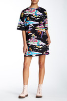 Love Moschino Allover Surf Print Oversized T-Shirt Dress