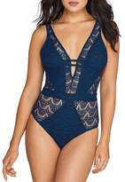 Becca Color Play Wire-Free Plunge One-Piece, L