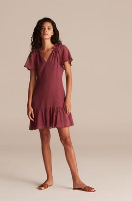 Rebecca Taylor Polished Dot Embroidery Dress
