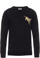 J.W.Anderson Donkey embroidered knit sweater