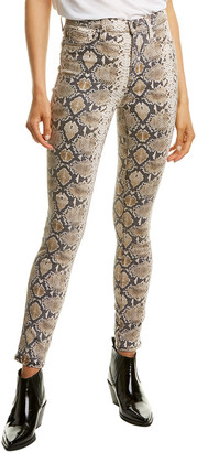 Hudson Barbara Tan Python Print High-Rise Super Skinny Ankle Leg Jean