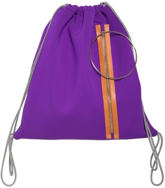 MM6 MAISON MARGIELA Zip & Hoop Neoprene Drawstring Backpack
