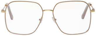 Chloé Gold Metal Square Sunglasses