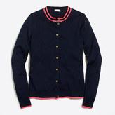 J.Crew Factory Tipped Caryn cardigan sweater