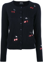 Markus Lupfer sequin cherry cardigan - women - Cotton - XS