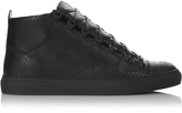 Balenciaga Arena high-top python trainers