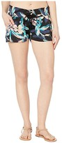 Roxy Oceanside Printed Shorts (Anthracite Tropicoco) Women's Shorts