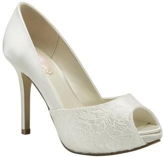 PeepToe Paradox London Fancy Ivory High Heel Platform Peep-Toe Shoes