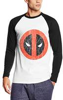 Marvel Men's Deadpool Cracked Logo T-Shirt
