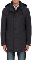 Piattelli MEN'S VIRGIN WOOL-CASHMERE TWILL PARKA