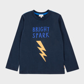 Paul Smith Boys' 7+ Years Navy Bright Spark Print 'Mikko' Top